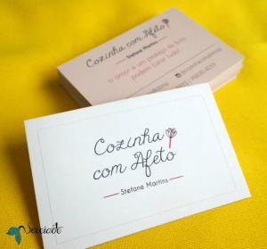 Cartão de visita Couchê 300g 9x5cm 4x0 ou 4x4 Sem Verniz Cantos Retos