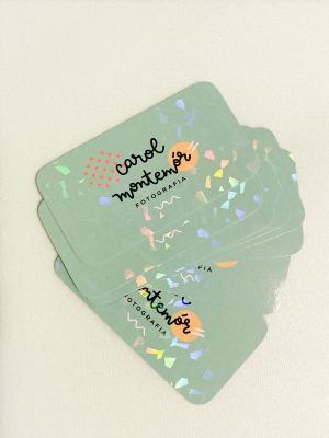 Cartão de visita + Laminação Holográfica Couchê 300g 9x5cm